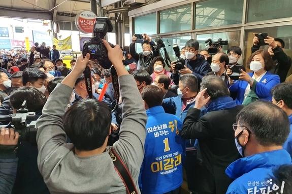 [동영상]남원서 봉변 당한 이낙연...이용호 항의 소동