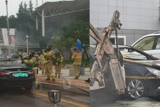 남원서 주차된 차량 화재