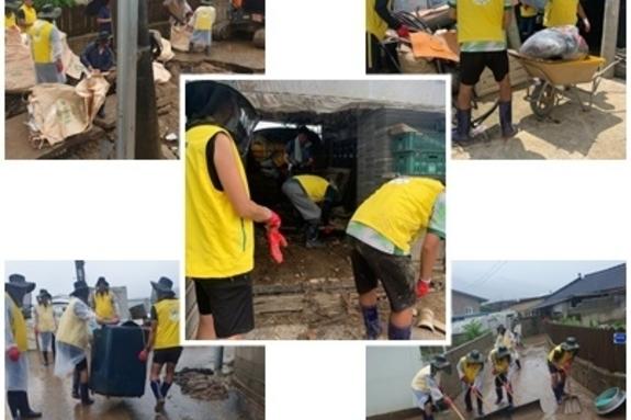 주민 감동시킨 '남원체육인'의 헌신적인 수해복구